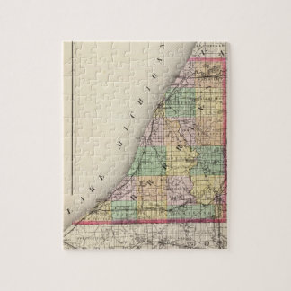Map of Berrien County, Michigan Jigsaw Puzzle