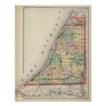 Map of Berrien County, Michigan Poster