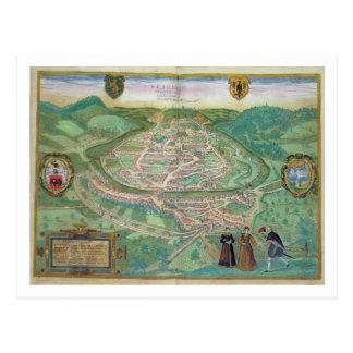 Map of Besancon, from 'Civitates Orbis Terrarum' b Postcard