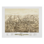 Map of Bethel, CT from 1879 Poster