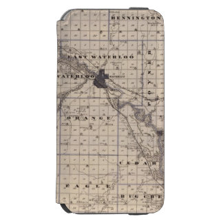 Map of Black Hawk County, State of Iowa iPhone 6/6s Wallet Case