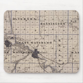 Map of Black Hawk County, State of Iowa Mouse Pad