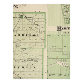 Map of Blackford County with Montpelier Postcard