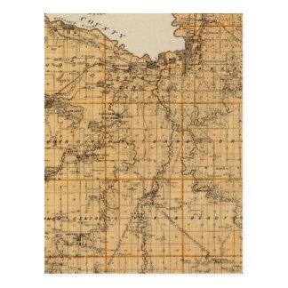 Map of Blue Earth County, Minnesota Postcard