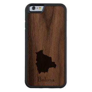 Map of Bolivia: Classic Design Carved® Walnut iPhone 6 Bumper