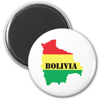 Map Of Bolivia Magnet