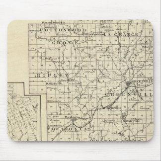 Map of Bond County, Alton Mouse Pad