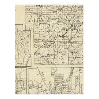 Map of Bond County, Alton Postcard
