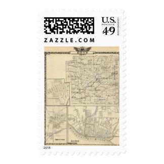 Map of Bond County, Alton Stamp