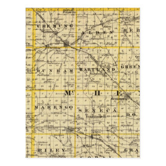 Map of Boone and McHenry counties Postcard