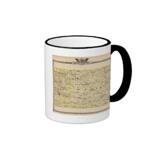 Map of Boone and McHenry counties Ringer Coffee Mug