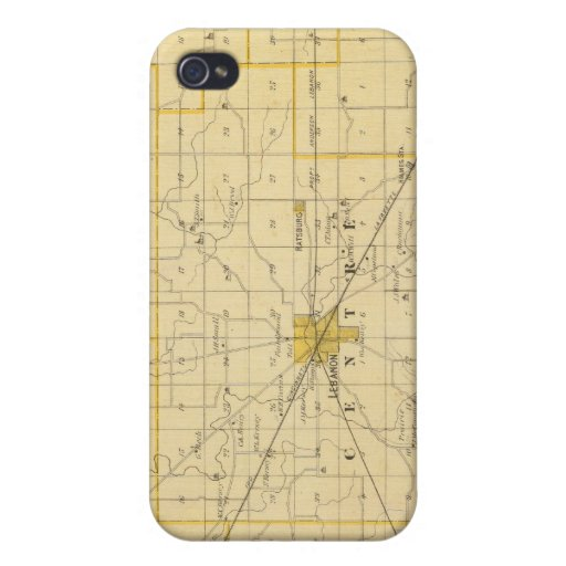 Map of Boone County iPhone 4 Cases