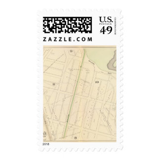 Map of Boston 11 Postage Stamp