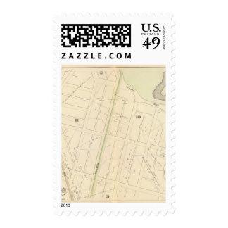 Map of Boston 11 Postage Stamp