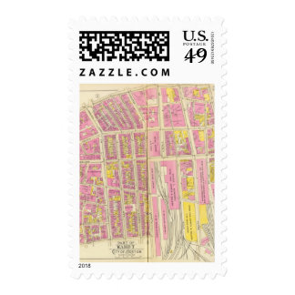 Map of Boston 14 Postage Stamp