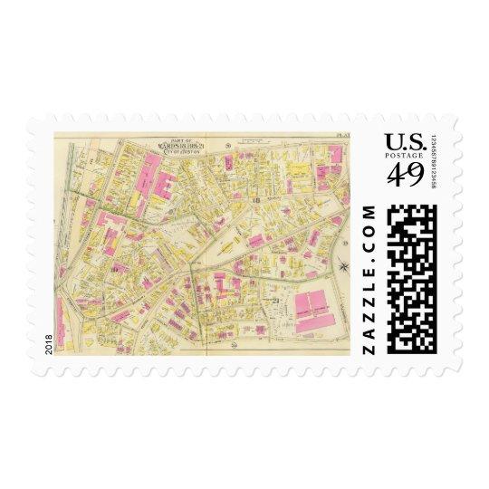 Map of Boston 15 Postage