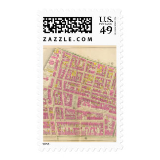 Map of Boston 15 Stamps