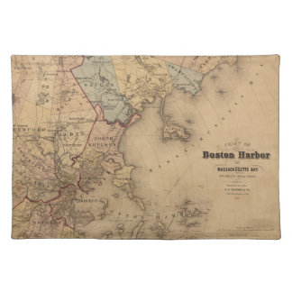 Map Of Boston 1861 Cloth Placemat