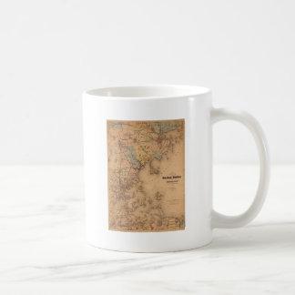 Map Of Boston 1861 Coffee Mug