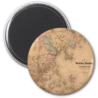 Map Of Boston 1861 Magnet