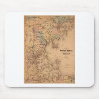 Map Of Boston 1861 Mouse Pad