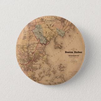 Map Of Boston 1861 Pinback Button