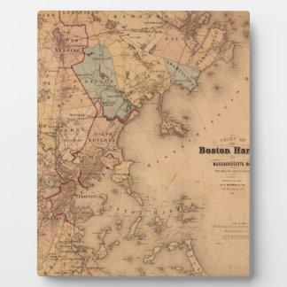 Map Of Boston 1861 Plaque