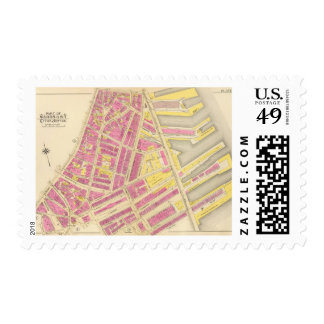 Map of Boston 24 Postage Stamp