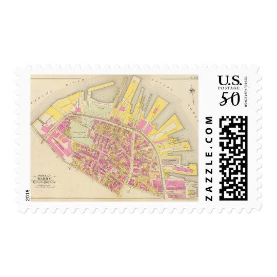 Map of Boston 26 Postage