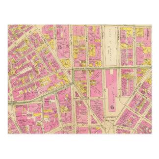 Map of Boston 28 Postcard