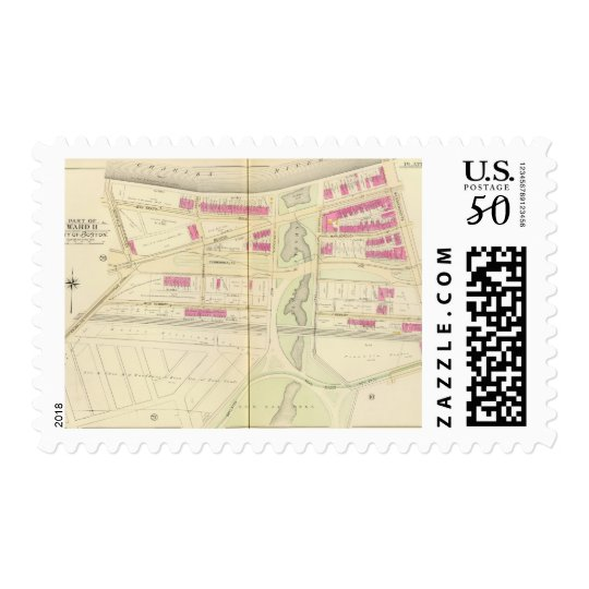 Map of Boston 29 Postage