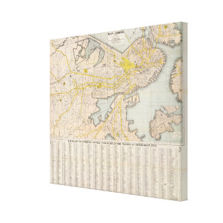 Map Of Boston 2 Gallery Wrap Canvas
