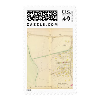 Map of Boston 4 Postage Stamp