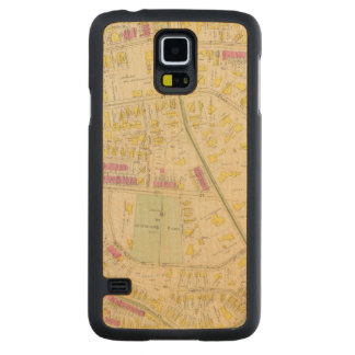 Map of Boston 7 Carved Maple Galaxy S5 Slim Case