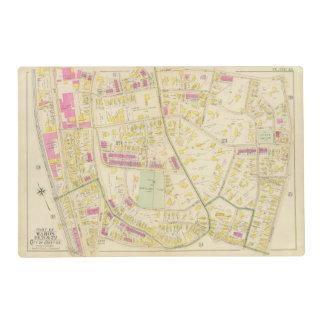 Map of Boston 7 Laminated Placemat