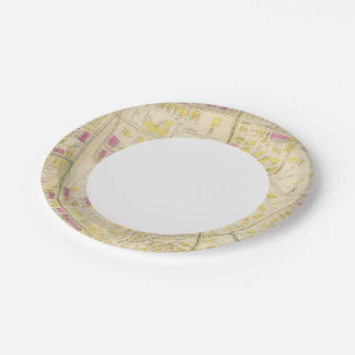 Map of Boston 7 Paper Plate