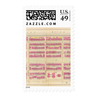 Map of Boston 7 Postage Stamps
