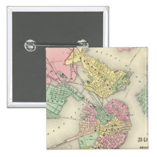 Map Of Boston And Adjacent Cities Pins