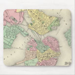 Map Of Boston And Adjacent Cities Mouse Pad