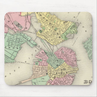 Map Of Boston And Adjacent Cities Mousepad
