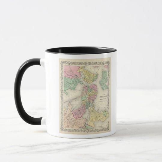 Map Of Boston And Adjacent Cities Mug