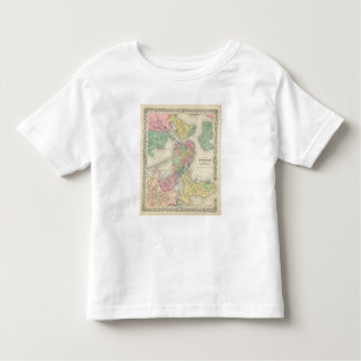 Map Of Boston And Adjacent Cities Toddler T-shirt