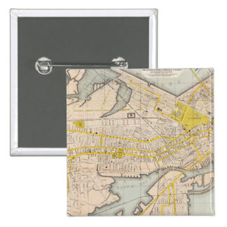 Map Of Boston Button