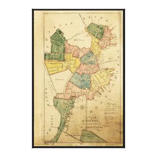 Map of Boston Massachusetts (1805) Canvas Print