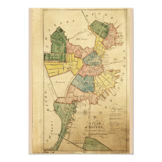 Map of Boston Massachusetts (1805) Card