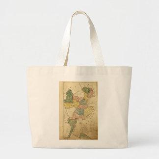 Map of Boston Massachusetts (1805) Large Tote Bag