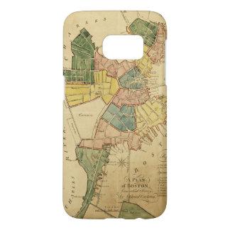 Map of Boston Massachusetts (1805) Samsung Galaxy S7 Case