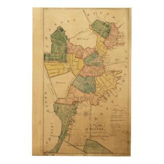 Map of Boston Massachusetts (1805) Wood Print