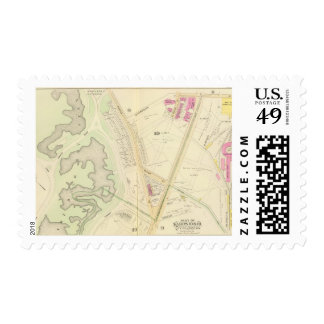 Map of Boston Postage Stamp
