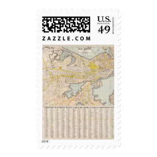 Map Of Boston Postage Stamps
